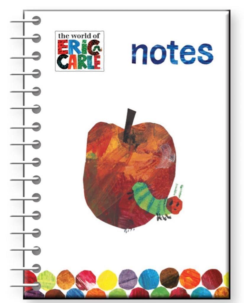Quaderno a righe con copertina rigida, formato A5, motivo: The World Of Eric Carle-Apple