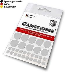 SPIONAGEABWEHR - 30 Stk. CAMSTICKER® Ø6mm & Ø15mm- KOMBI-SET - Alu-Metall-Optik - Kamera Aufkleber für integrierte Miniwebcams - Für Smartwatch, Handy, Tablet, Notebook, Laptop, Monitor & Fernseher
