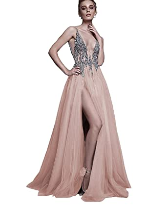Evening Gown with Slit