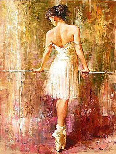 Sqailer 5D DIY Diamond Painting Full Square Drill Ballet Dancer Rhinestone Embroidery for Wall Decoration 12X16 inches ()