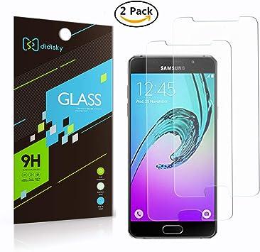 2X Samsung Galaxy A5 (2016) Protector de Pantalla,Didisky® Vidrio ...