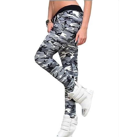 Pantalones mujer deporte Sannysis pantalón chandal color Camuflaje ...