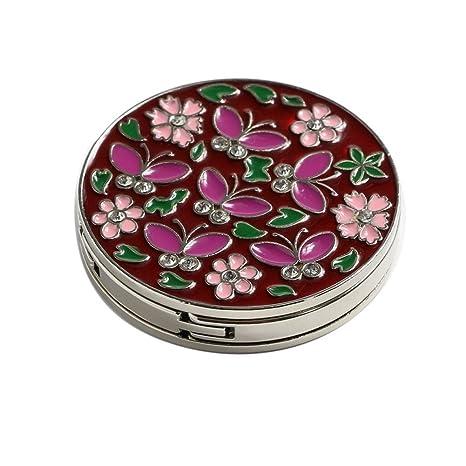Amazon.com: WannaBi Cloisonné flor y mariposa plegable ...