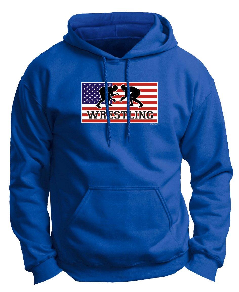 Wrestling Knee Pads American Pride Wrestling Premium Hoodie Sweatshirt Medium Royal by ThisWear