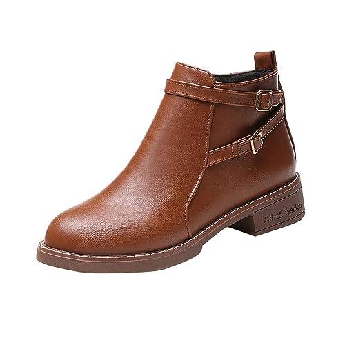 Retro Stiefeletten Frauen Schuhe Damen Plattform Rutschfeste Pn0kwO8X