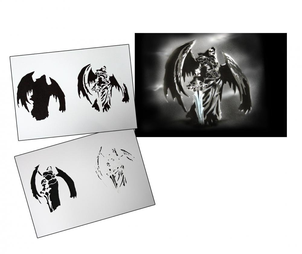 UMR-Design Step by Step Airbrush Stencil Template
