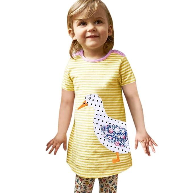 JIANGFU Kinder / Cartoon / Kurzarm / Kleider, Kleinkind Infant Baby ...