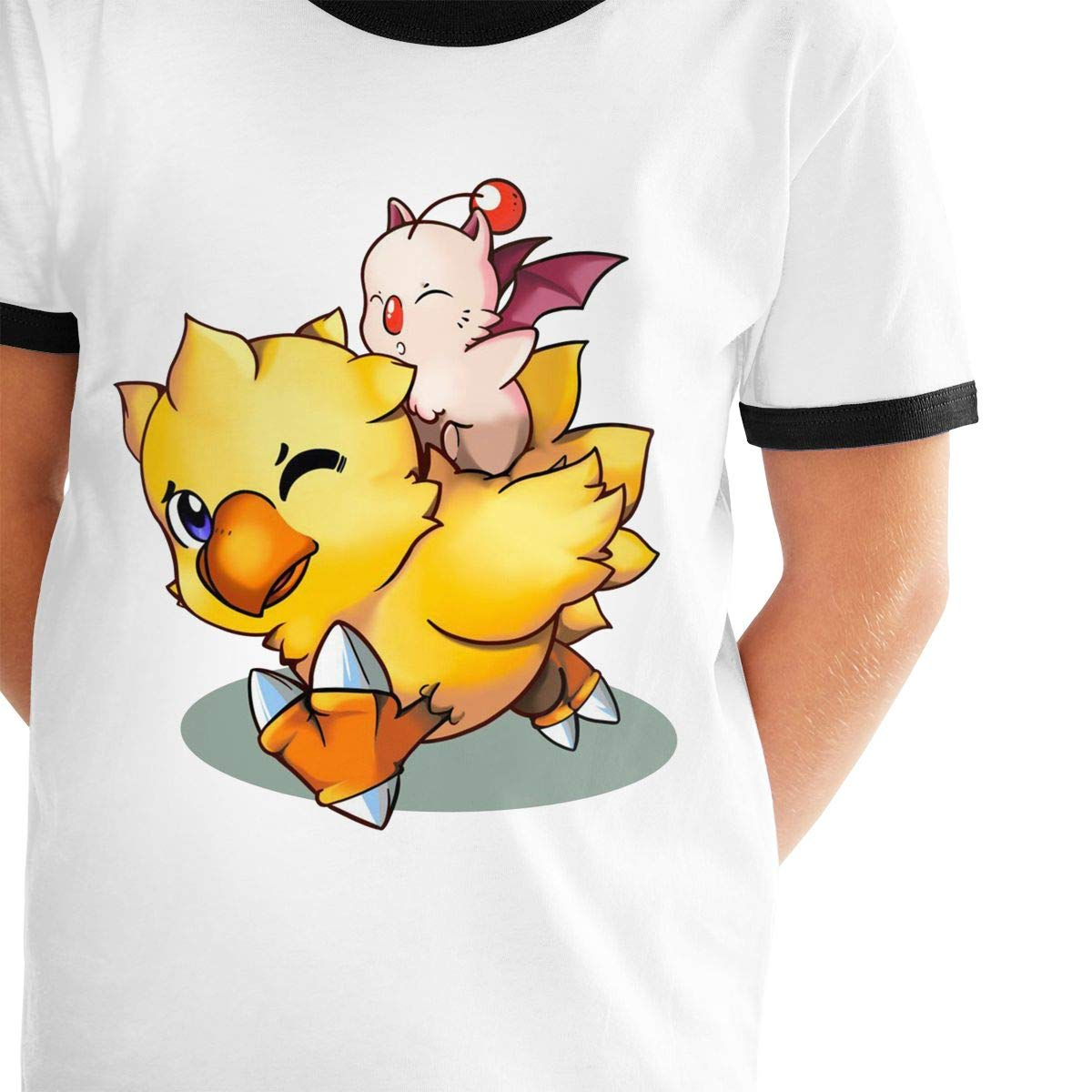 Kids Or Little Boys and Girls Final Fantasy Mog and Chocobo Unisex Childrens Short Sleeve T-Shirt