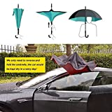 C-Shape-HandleDouble-Layer-Wind-ProofUV-Proof-Reverse-Folding-Inverted-Umbrella-Travel-Umbrella-With-Carrying-Bag-Sky-Blue