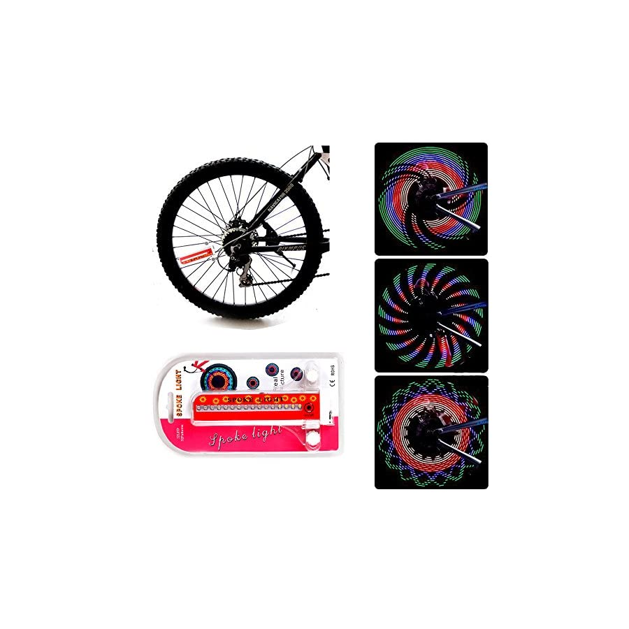 Bike Rim Lights, Bliplus Ultra Bright LED Bicycle Waterproof Wheel Light 32LED/32Patterns Bicycle Rim Light, String Colorful Bicycle Tire Accessories