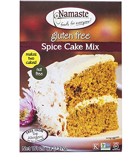 Spice Cake Mix - Namaste Foods, Gluten Free Spice Cake Mix, 26-Ounce Bags (Pack of 6)