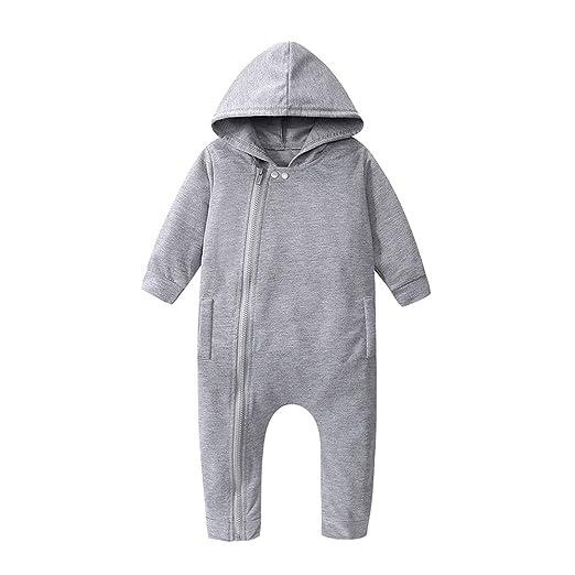 Baby Boy Girl Casual Spring Hoodie Romper Long Sleeve Bodysuit Jumpsuit Costumes