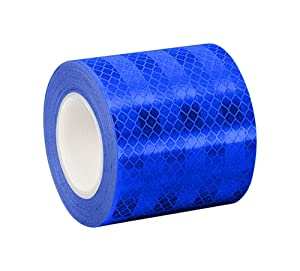 "3M 3435 Blue Micro Prismatic Sheeting Reflective Tape, 0.5"" x 5 yd (1 Roll)"
