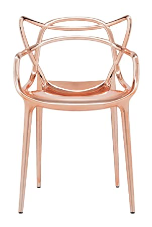 Genial Kartell Precious Metallic Chrome Masters Chair By Philippe Starck