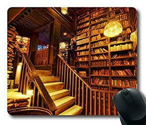 House On The Rock Library Personlized Masterpiece Limited Design Oblong Mouse Pad by Cases & Mousepads