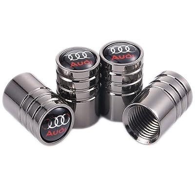 TK-KLZ 4Pcs Chrome Car Tire Valve Stem Caps for Audi S Line S3 S4 S5 S6 S7 S8 A1 A3 RS3 A4 A5 A6 A7 RS7 A8 Q3 Q5 Q7 R8 TT Car Styling Decoration Accessories: Automotive