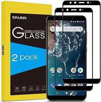 SPARIN [2-Pack] Cristal Templado Xiaomi Mi A2, Full-Cover ...