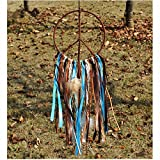 LOMOCRAFT Dream Catcher ~ Handmade Creative Wall Hanging Home decoration (Green) 5.9'' Diameter 18'' Long