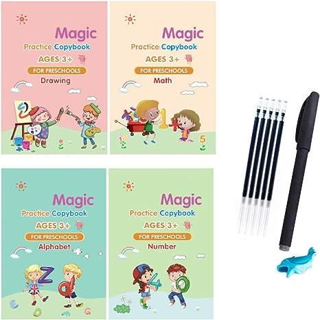 magic handwriting practice copybook Write Pen Book Board Tracing for Kid