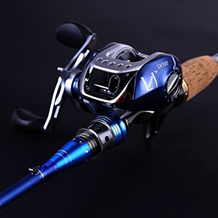 Image result for Sougayilang Spinning Baitcasting Fishing Rod With Fishing Reel Combos