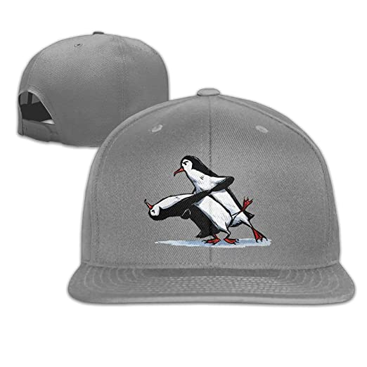 abc42681da8 Prohats Tango Penguins Unisex Causal Fitted Flat Bill Skater Hat For Men  And Women