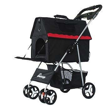 NAUY- Carrito para mascotas de cuatro ruedas Carrito para mascotas Carrito para mascotas Gato y