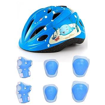 Lommer 7pcs Ajustable Casco Bici Niño Casco Ciclismo Bebe ...