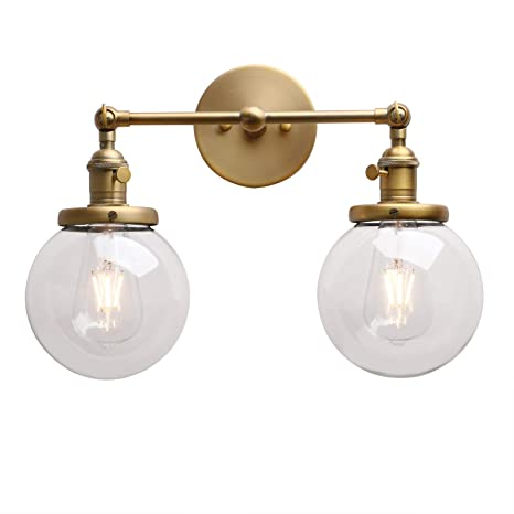 permo double sconce vintage industrial antique 2 lights wall sconces