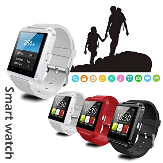 HCBZVN Pulsera Actividad, U8 Bluetooth Smart Watch para iPhone iOS ...