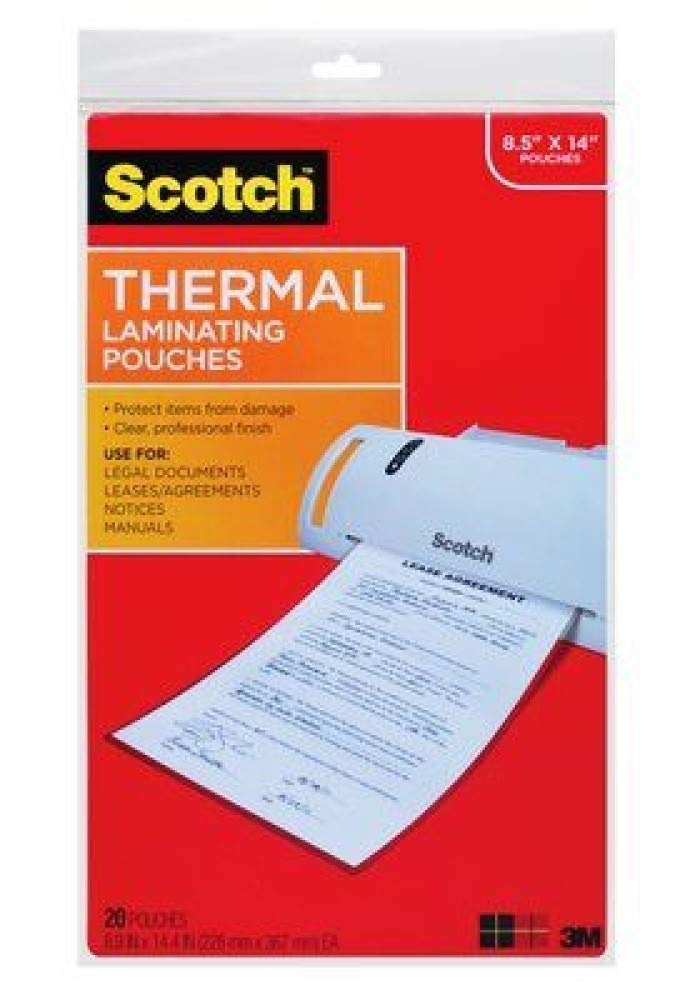 Scotch (TM) Thermal Laminating Pouches, 8.5 Inches x 11 Inches, 100 Pouches (2 Packs of 50) by Scotch