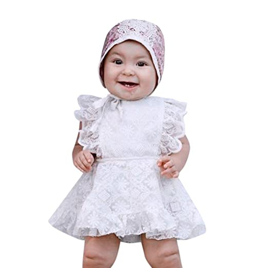 a9b3c1ed4e0a Euone® Dress Toddler Girls Ruffles Romper Dresses Baby Infant Lace Floral  Dresses (0-