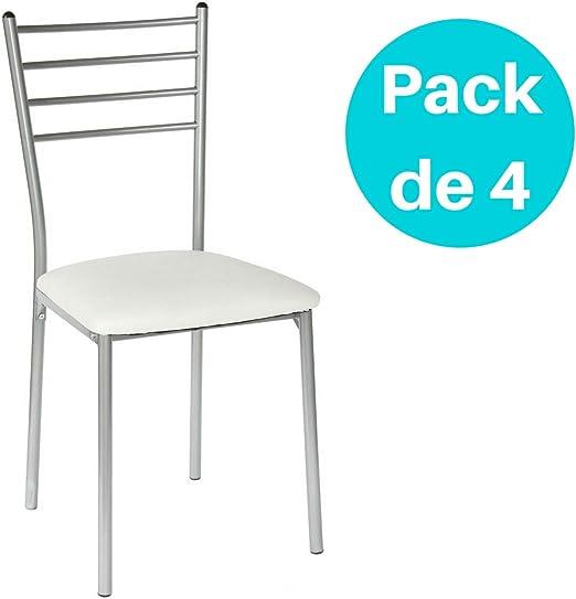 Juego de 4 sillas de cocina.: Amazon.es: Hogar