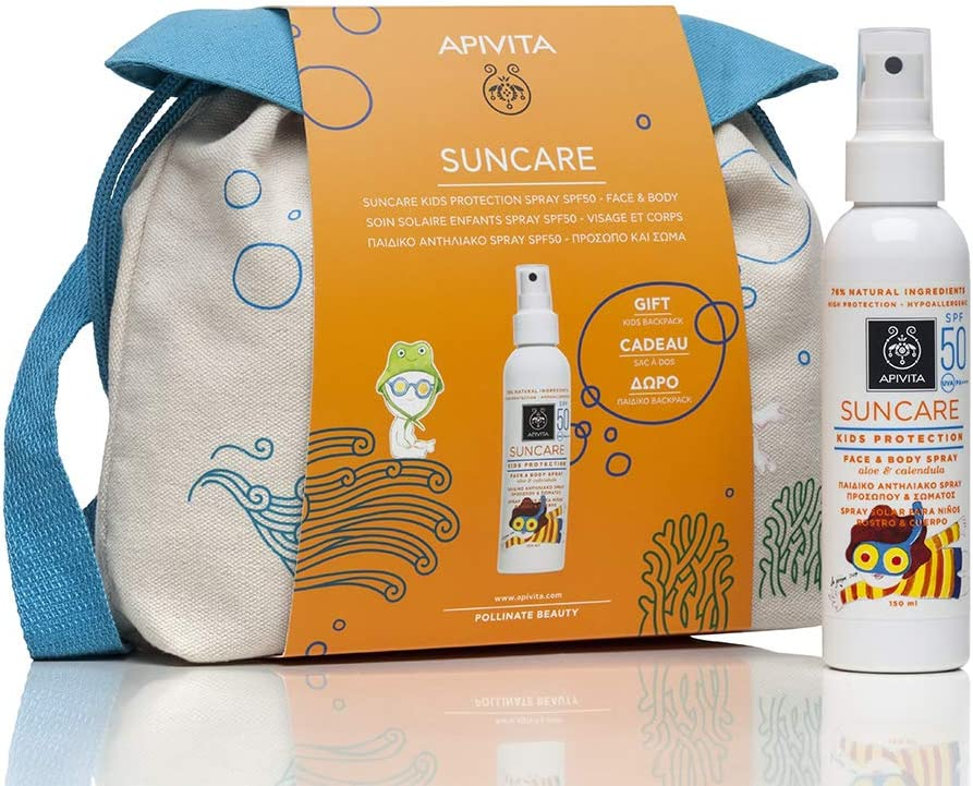 Apivita SUNCARE Spray solar para niños SPF 50 + Neceser de Regalo