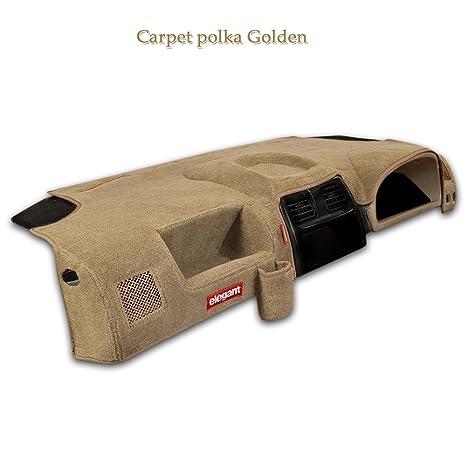Elegant Car Dashboard Cover Polka Golden For Chevrolet Tavera