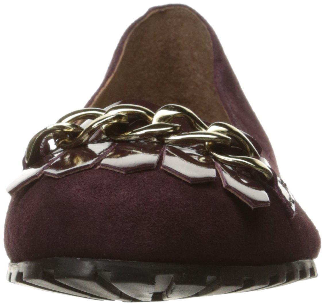 French Sole FS/NY Women's Sunshine Ballet Flat B01N6QDNCI 6 B(M) US|Burgundy Suede