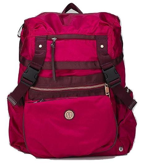 0702f8d1465 Lululemon Travelling Yogini Rucksack Backpack Cranberry Red Bordeaux Drama   Amazon.ca  Sports   Outdoors