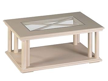 Couchtisch Wohnzimmer Tisch Allegro Mit Glasplatte 110 X 75 Cm
