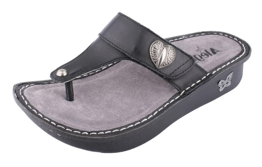 Alegria Women's Carina Wedge Sandal,Black Nappa,37 BR/7-7.5 M US