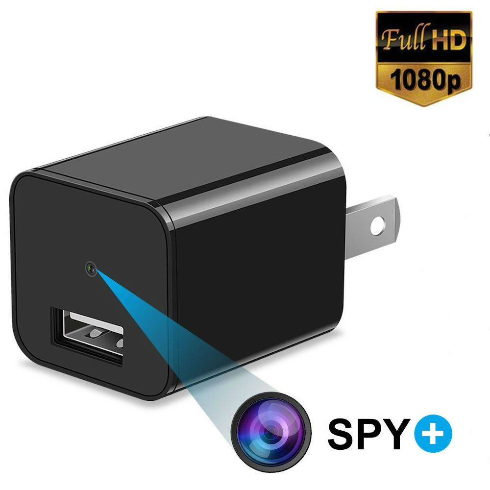 Hidden Spy Camera 1080P HD USB Wall Charger For Use In Security Surveillance or as a Mini Nanny Cam by Arena Club