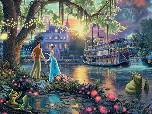 Ceaco Thomas Kinkade Disney Princess Collection The Princess & The Frog Puzzle (300 Piece)