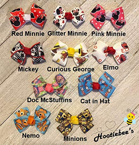 Characters Tiny Tot Infant Hair Bows