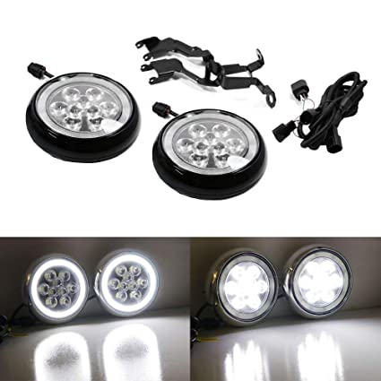 iJDMTOY Black Finish LED Rally Driving Lights For MINI