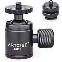 Mini głowica kulowa ARTCISE CB19 głowica kulowa statywu ze zdejmowanym adapterem do gorących butów, obracającym się o…
