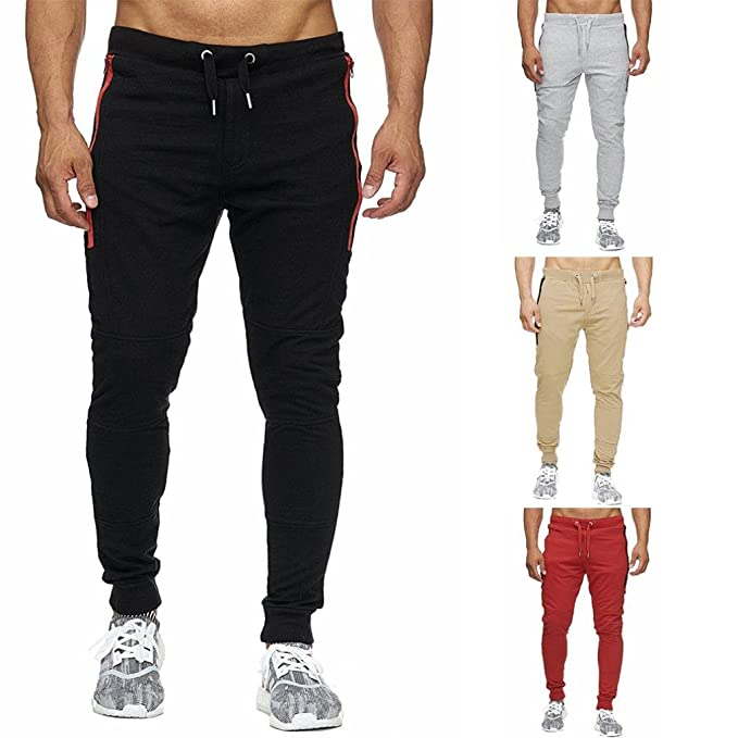 3a9a577b520bad Morwind Pantalone Leggero Uomo- Pantaloni Fitness Uomo - Pantaloni Jogger  Uomo - Pantalone Jogging Uomo