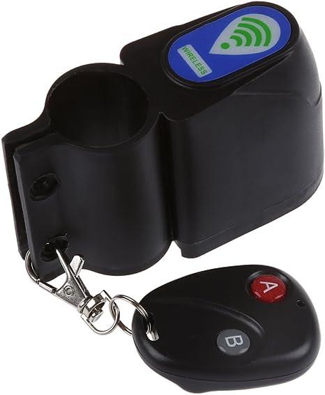 SODIAL(R)Antirroba Cerradura Bici Alarma de vibracion de seguridad ...
