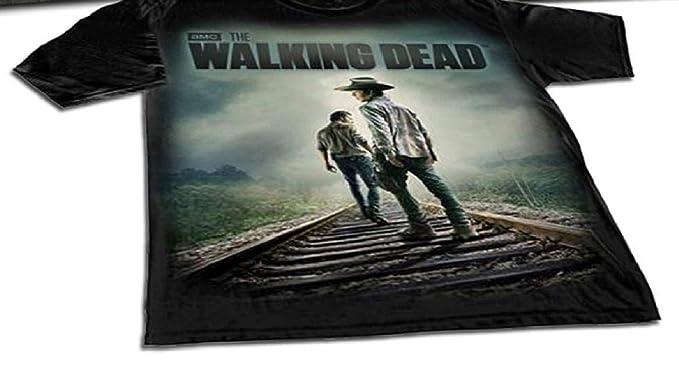 23b85ffb1 Image Unavailable. Image not available for. Color: AMC /LIONGSGATE The  Walking Dead Carl Grimes & Rick Grimes Adult T-Shirt