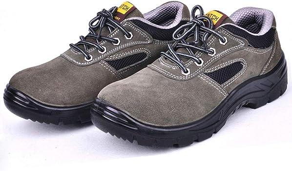 Hombre Zapatillas de Seguridad con Puntera de Acero Ligeras S1P Calzado de Trabajo, Zapatillas de Trabajo con Punta de Acero Ultra Liviano Transpirable,Gris,35EU: Amazon.es: Zapatos y complementos