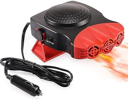 Kuce Auto Heizung Tragbar 30 Sekunden Schnelles Heizen Schnell Abtauen Defogger 12v 150w Auto Keramik Heizung Lüfter 3 Auslass Plug In Cig Feuerzeug Rot Auto