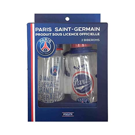 Un lot de 2 biberons Paris Saint Germain - bébé mixte  Amazon.fr ... ac170da084c
