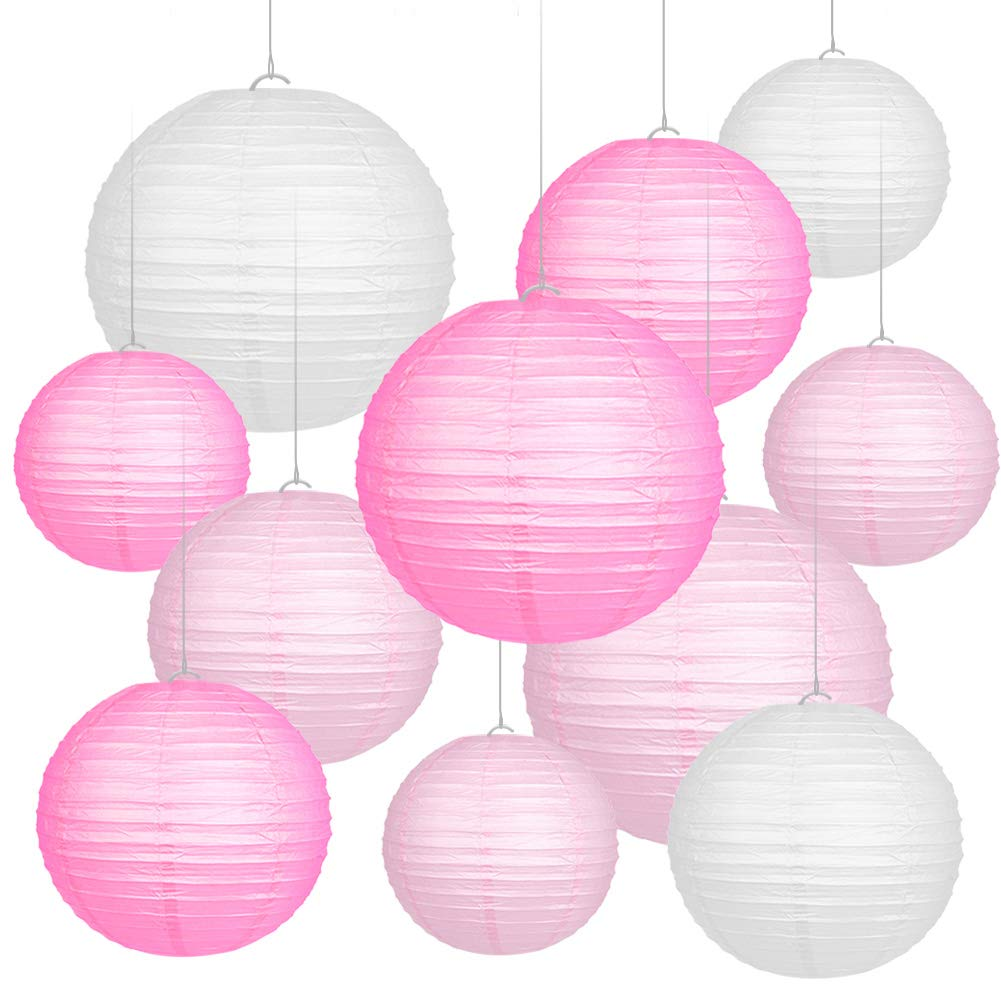 Alintor 11 Pack Paper Lanterns Party Decoration - Paper Light Shade, 6